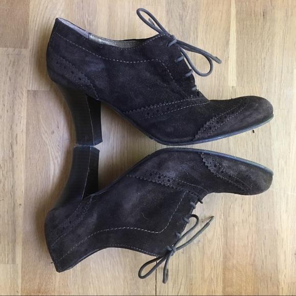 Shoes - San Marina PARIS Brown Suede Heeled Booties 38